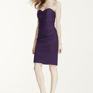 Dresses & Skirts - Short Stretch Satin Dress with Sweetheart Neckline